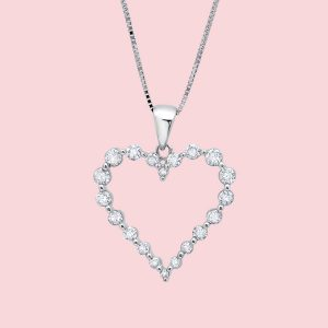 Valentine's Day Diamond Neckalce