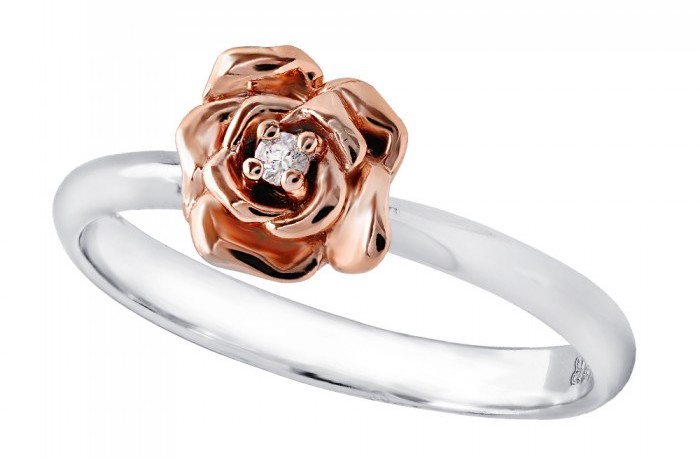 rose gold white gold ring