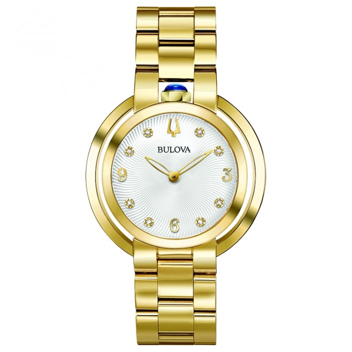 WOMEN'S BULOVA YELLOW GOLD-TONE RUBAIYAT WATCH