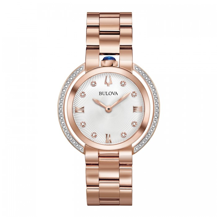 WOMEN'S BULOVA ROSE GOLD-TONE RUBAIYAT WATCH